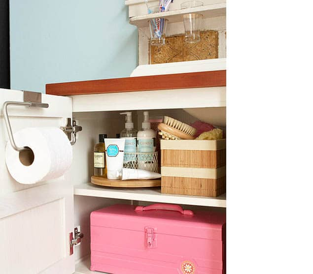 Lazy susans and other small bathroom storage ideas
