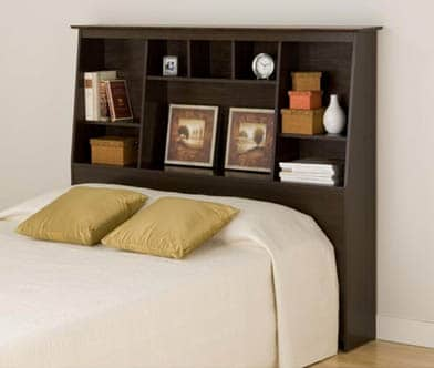 Headboard with storage with small bedroom decorating ideas light room