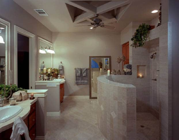 10 walk in shower ideas that are bold and interesting for Master bathroom no door