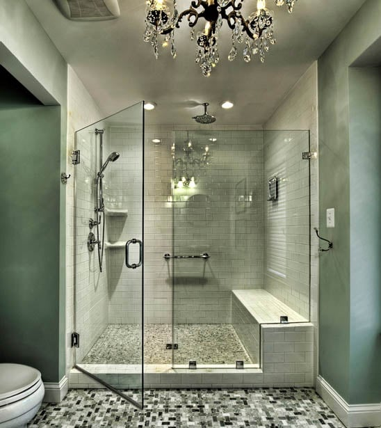 walk in shower lighting. Photo Credit : Xspai.com Walk In Shower Lighting