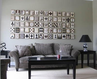 Curated photo wall ideas for living room
