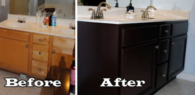 paint bathroom cabinets black 10 cool ideas for bathroom decorating on a budget just 19841