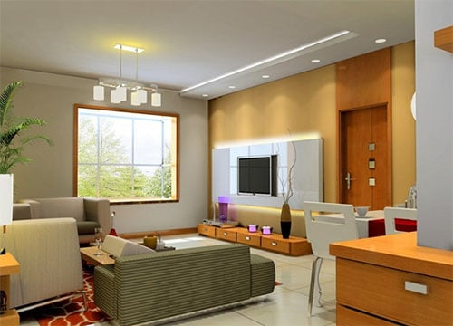 Decorative accessory in modern well lit living room