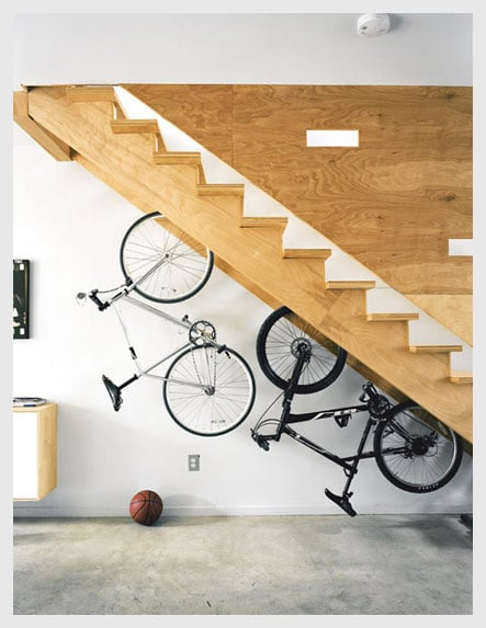 Some Homes Have A Stair From The Garage Leading To The Main House. Why Not  Use This Extra Space To Store Your Wares. A Bike Holder Is One Of The Most  ...