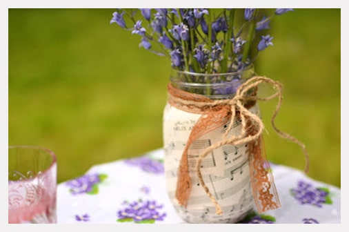 Decoupage recycle glass jar for decor
