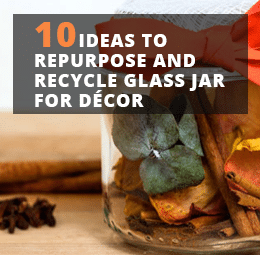 Recycle Glass Jar For Decor