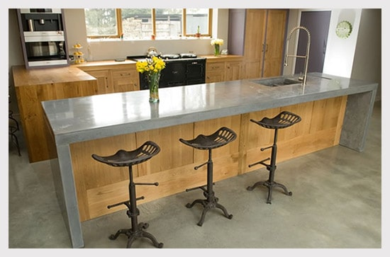 concrete floors in kitchen 7 kitchen countertop inspirations 5668