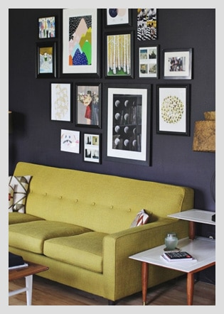 If You Have A Collection Of Framed Art Or Photos Then, By All Means, Flaunt  Them! Create A Gallery Wall Like The One Above In Your Home Office  Receiving ...