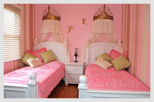 Interior Twin Girls Bedroom Ideas 7 timeless twin girl bedroom ideas just diy decor when it comes to decorating pink has always been a top favorite you can either paint the wall or arrange all other aspects of