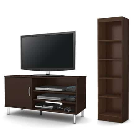 South-Shore-2-Piece-Bookcase-Chocolate