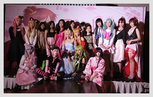 Colorful cosplay costumes