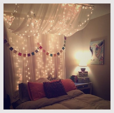 Long String Lights For Bedroom : 10 Home Decor Ideas with String Lights Just DIY Decor