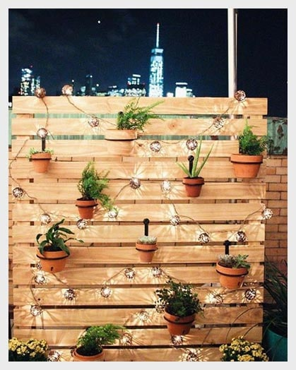 10 home decor ideas with string lights just diy decor for Ideas for hanging patio string lights