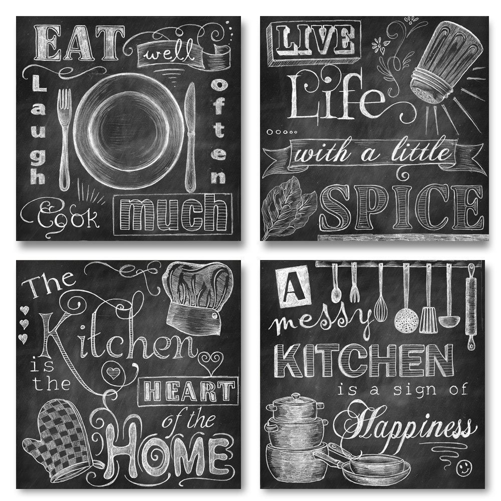10 country kitchen wall decor ideas just diy decor. Black Bedroom Furniture Sets. Home Design Ideas