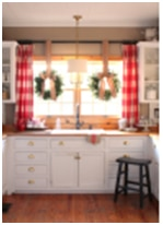 Christmas window ideas for the holidays in kitchen