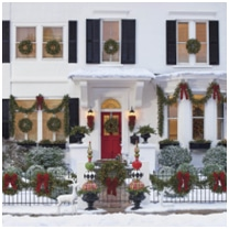 outdoor Christmas decorations on home