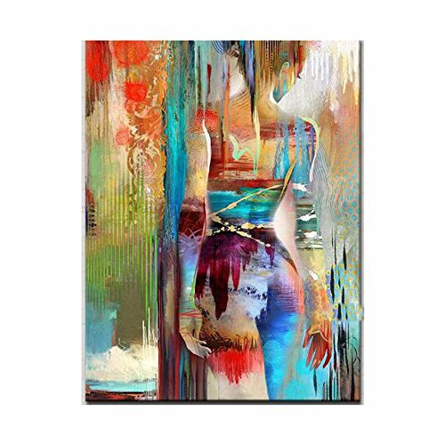 Hand painted Modern Abstract Sexy Girl Oil Painting for fireplace