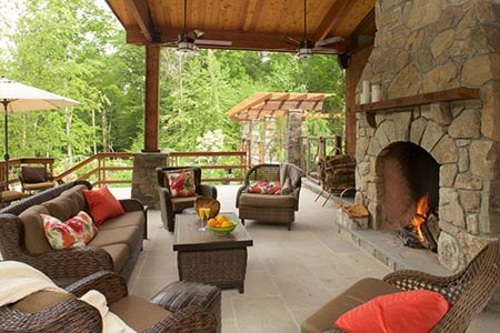 fireplace decor ideas with brown furniture