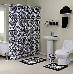 Instead Of Ing Separate Pieces Why Not Go Full Blast In Your Bathroom Revamp Such Is The Essence This Madison Dam Set Bk Damask Black Deluxe Bath