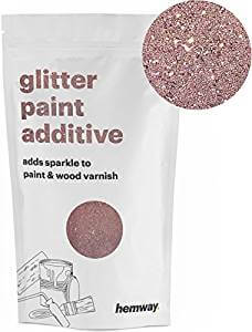 Hemway Rose Gold Glitter Paint Additive Crystals for vanity mirror