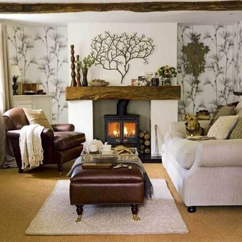 Living Rooms Warm Cozy: 5 Warm And Cozy Small Living Room Ideas With A Fireplace
