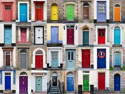 Front Door Decoration Ideas in many colors