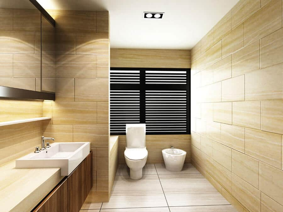 Floor to Ceiling Tile Design Ideas For Small Bathrooms
