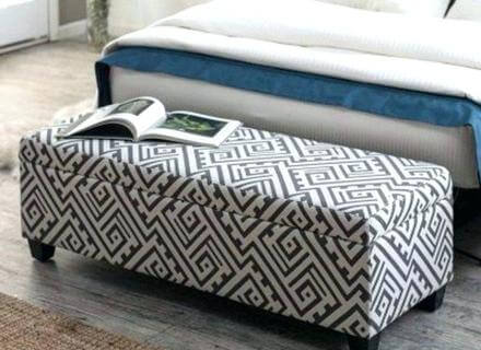 bedroom storage ottoman cool beige folding at foot of bed