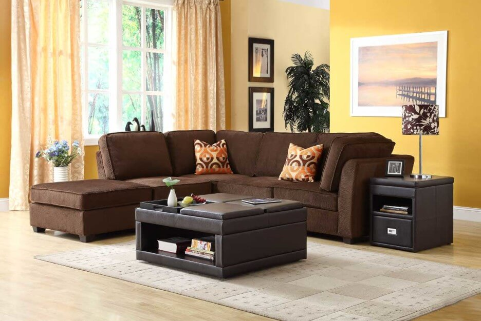 5 Living Room Color Ideas for Brown Furniture