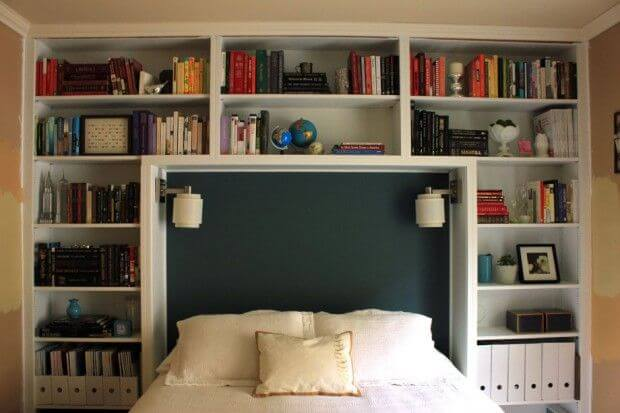 Headboard ideas for master bedroom with storage