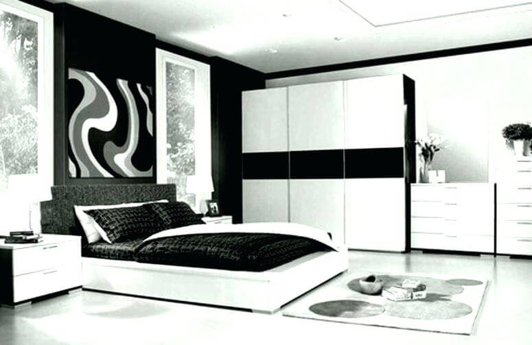 White and black masculine bedroom ideas