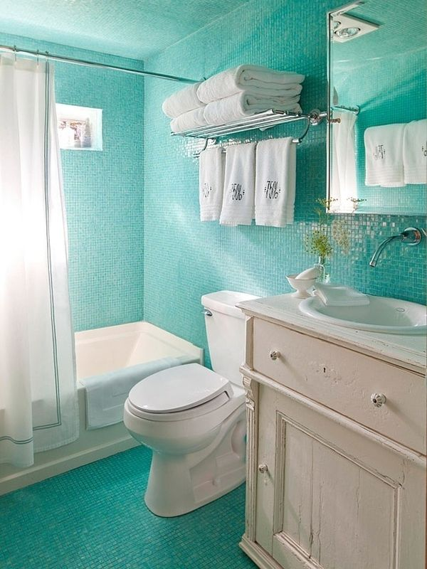 Turquoise combined with blue