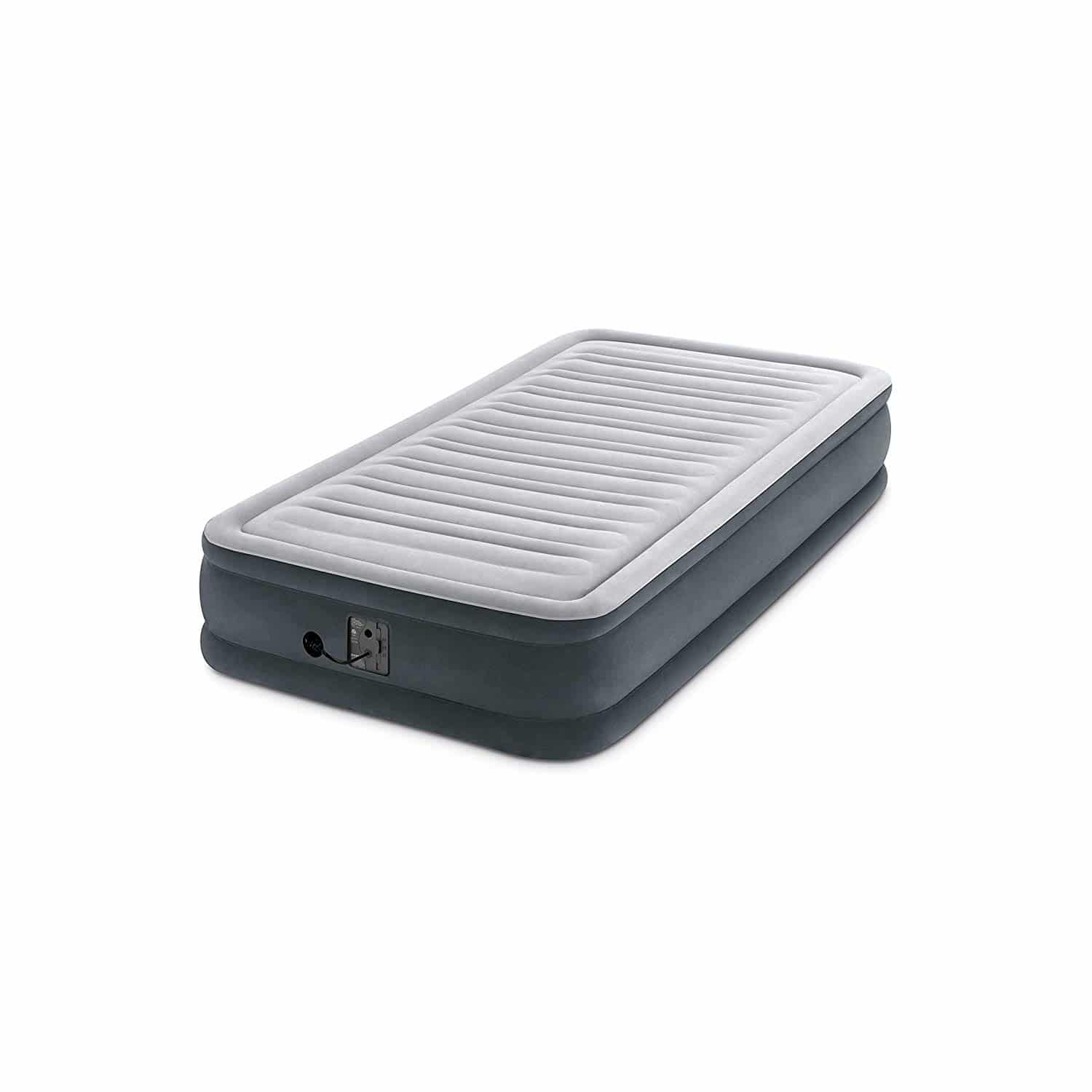 Intex Comfort Plush Mid Rise Dura Beam Airbed with Internal Electric Pump
