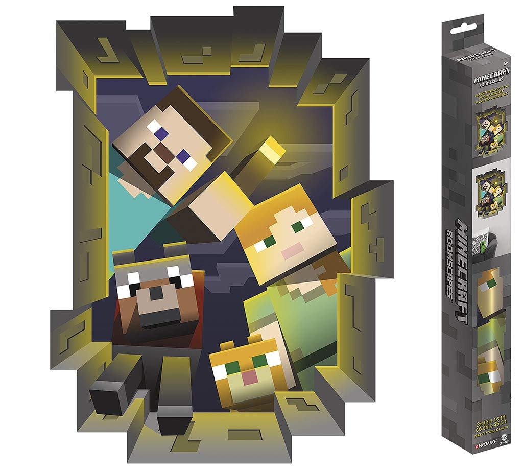 Trends International Minecraft Caved ROOMSCAPES