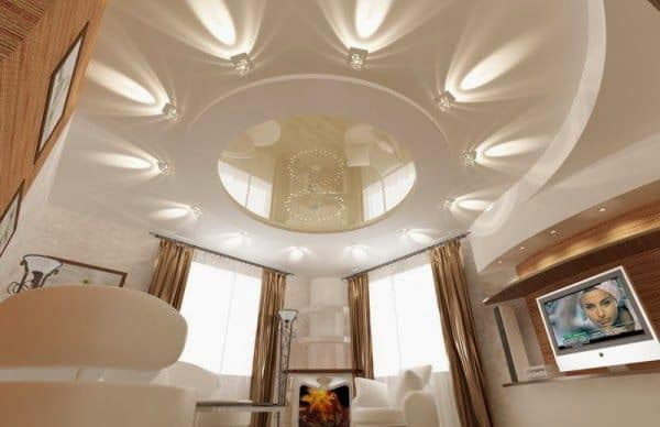 Magical Crystal Clear Lighting Fixtures with false ceiling