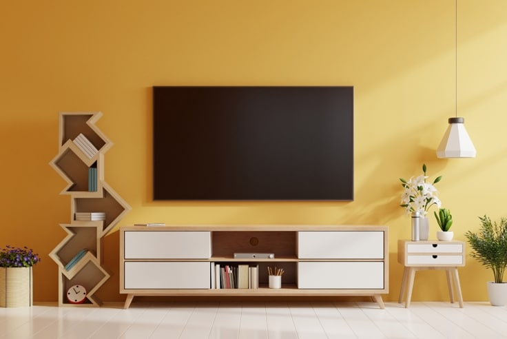 TV Wall with Shelving