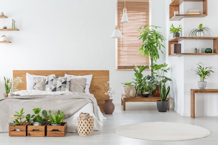 two color combination for bedroom walls with earthy browns and greens