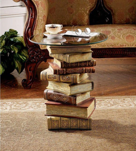 cute stacked books concept