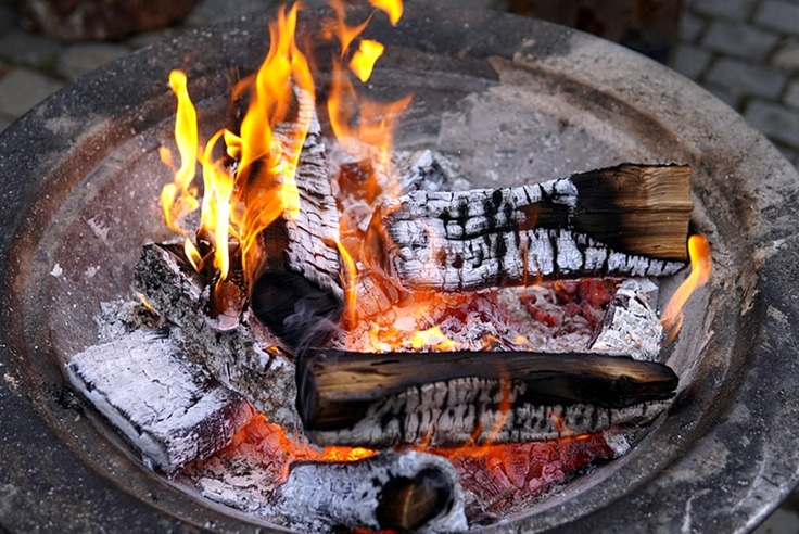 Tabletop Fire Bowl Throughout the Year